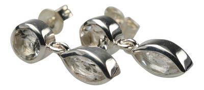 Ohrstecker aus Sterlingsilber mit Bergkristall