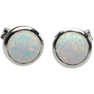 925er Silberohrstecker mit synt. Opal