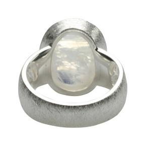 925er Silberring mit großem Mondstein – Bild 2