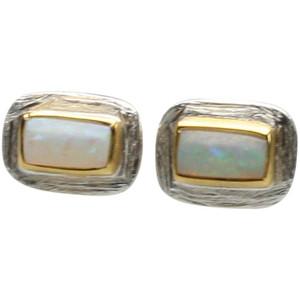 Ohrstecker aus 925er Silber mit Opal – Bild 2