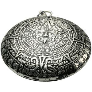 Besonderer 925 Silberanhänger Aztekenkalender – Bild 1