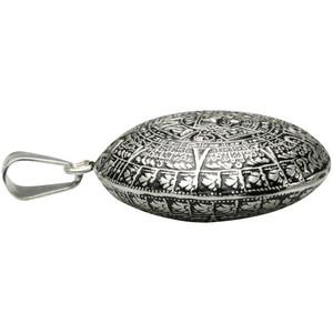 Besonderer 925 Silberanhänger Aztekenkalender – Bild 3