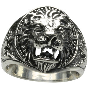 925er Silberring im Löwen Design – Bild 2