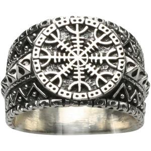 Interessanter 925er Silberring altnordisches Schutzsymbol – Bild 1