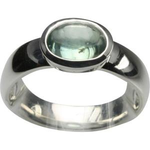 Polierter 925er Silberring mit grünem Disthen – Bild 1
