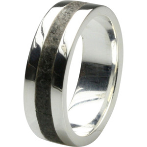Eleganter 925er Silberring mit philippinischer Lava – Bild 1