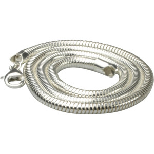 Edle massive Schlangenkette aus 925er Silber  4mm Stärke – Bild 2
