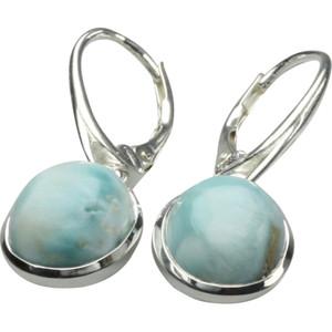 Ohrringe aus 925er Silber mit edlem Larimar – Bild 1