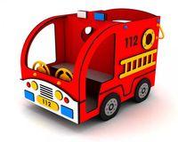 Mini Feuerwehrauto 304010 - öffentlich DIN 1176 - Fahrzeug für Kindergarten oder Spielplatz
