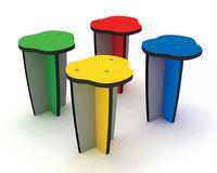 Einbeiniger Hocker, Farbe wählbar 302010-20-30-40 - DIN 1176 öffentlich