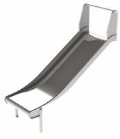 Breite Rutsche V2A Edelstahlrutsche für Turmanbau/ Hügelanbau, Höhe: 90-100 cm - Breite: 100cm - öffentlich DIN EN 1176