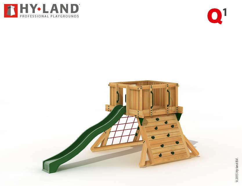 hyland projekt q1 spielturm aus douglasienholz mit. Black Bedroom Furniture Sets. Home Design Ideas