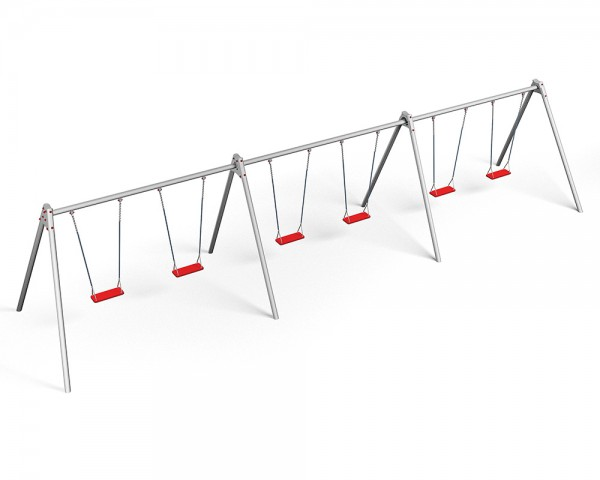 metall schaukelgestell modul mit 6 reifenschaukelsitzen. Black Bedroom Furniture Sets. Home Design Ideas