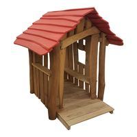 Spielhaus Lukas mit Theke Robinie - DIN 1176