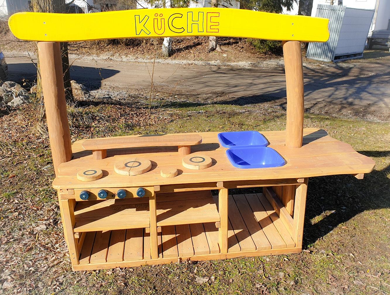 Outdoor Küche Für Kinder : Klingl spielküche aus robinie din 1176 klingl spielgeräte