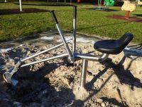 Klingl Sandbagger Edelstahl DIN 1176 öffentlicher Bereich - extrem stabil für Kindergarten Spielplatz