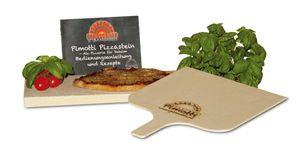 2,5cm Pimotti Pizzastein Brotbackstein im Set aus Schamott +Schaufel +Anleitung & Rezepten Bild 2