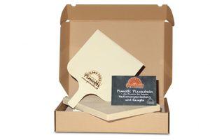 2,5cm Pimotti Pizzastein Brotbackstein im Set aus Schamott +Schaufel +Anleitung & Rezepten Bild 3