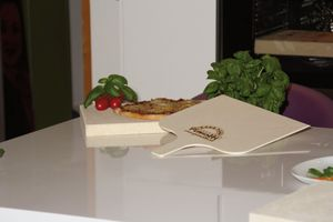 3er Set - Pimotti Pizzaschaufel / Brotschaufel/ Flammkuchenbrett aus naturbelassenem Sperrholz für Pizzastein  Bild 3