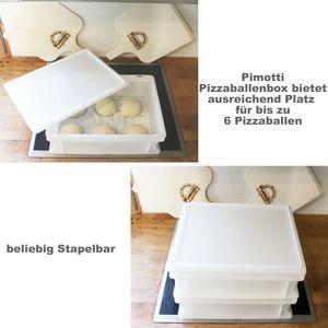 Pimotti Pizzaballenbox (1er Set ohne Deckel) mit 30 x 40 x 12 cm, Kunststoffbehälter für Pizzateig, Stapelbehälter, Gärbox 002