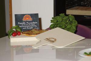 2,5cm Pimotti Pizzastein Brotbackstein im Set aus Schamott +Schaufel +Anleitung & Rezeptet (2. Wahl) Bild 5
