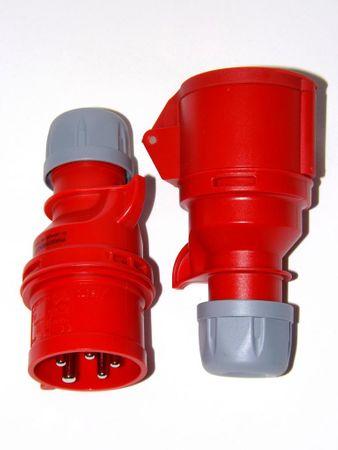 PCE 16 A CEE rot Stecker Phasenwender 5 pol IP44 7015-6