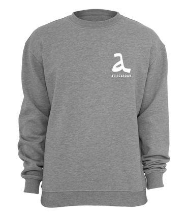 Alligatoah Hoody Logo 2 Grau Sweatshirts & Kapuzenpullis