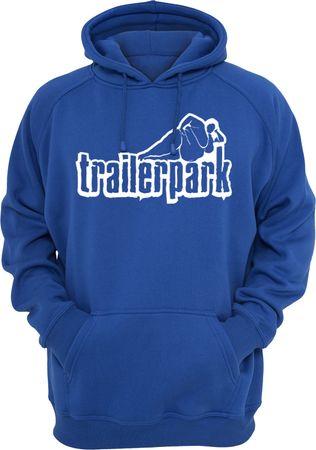 Trailerpark Hoody Logo blau