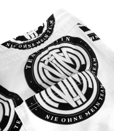 Team Platin Logo-AOP Shorts weiss – Bild 3