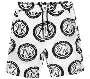 Team Platin Logo-AOP Shorts weiss – Bild 1