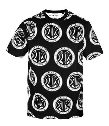 Team Platin Logo-AOP Shirt schwarz – Bild 1
