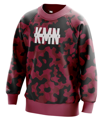 KMN Gang Sweater burgundy camo