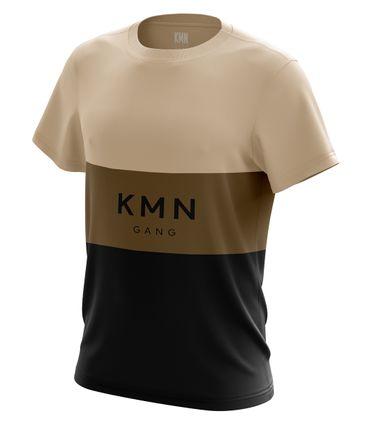 KMN Gang T-Shirt Stripes beige / braun / schwarz