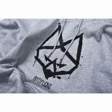 Antifuchs Hoody Logo grau