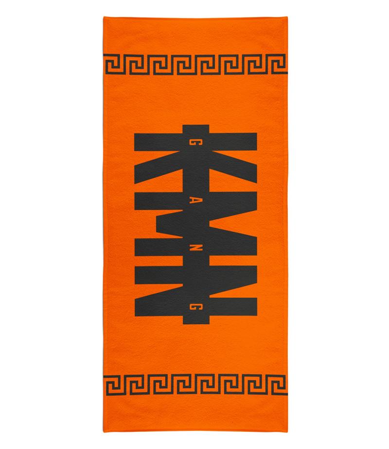 Fanartikel & Merchandise Kmn Gang Badehandtuch Orange Musik