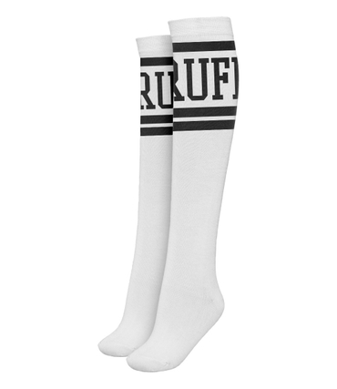 Ruffiction Overknee Socken RUFF Weiss