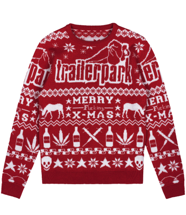 Trailerpark Strickpullover Merry fucking X-Mas