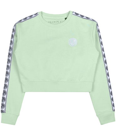 Team Platin Crop Sweater Mint