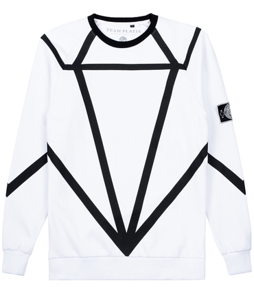 Team Platin Sweater Diamond Weiss