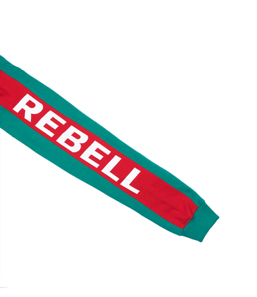 Rebell Army Stripe Hoody Green