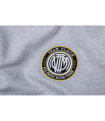 Team Platin Classic Stripe Sweater Neon/Grey