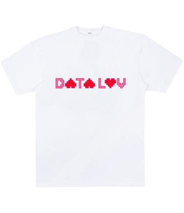 Data Luv Logo Shirt weiss