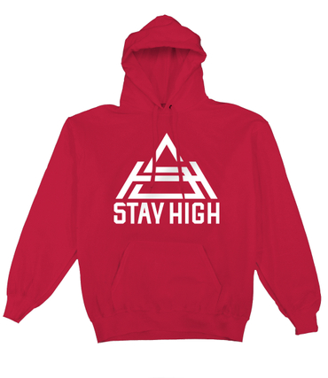 Stay High Logo Hoodie Red