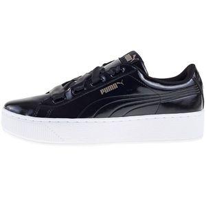 Puma Vikky Platform Ribbon P Damen Sneaker schwarz Lack-Optik – Bild 2