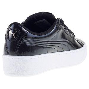 Puma Vikky Platform Ribbon P Damen Sneaker schwarz Lack-Optik – Bild 3