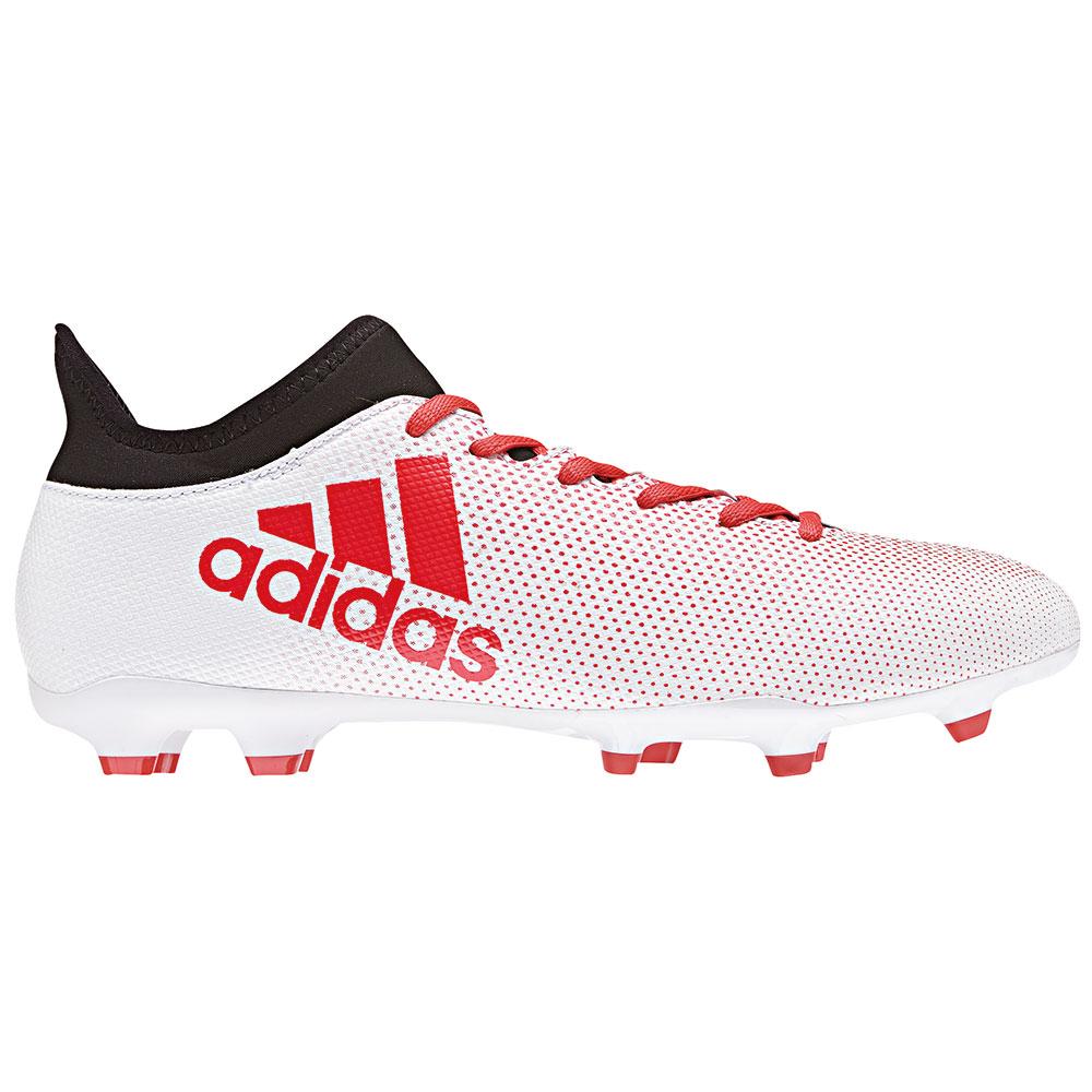 adidas X 17.3 FG Herren Fußballschuh weiß rot