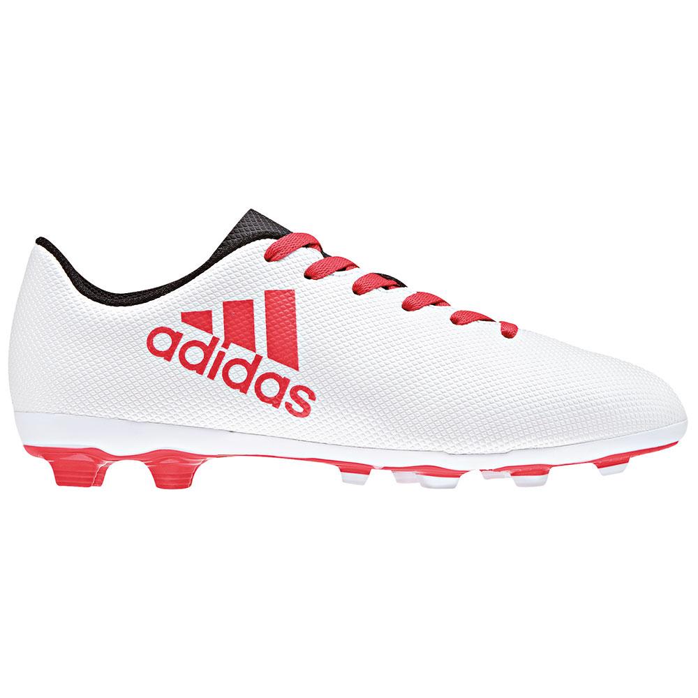 pretty nice cabd7 28499 adidas X 17.4 FxG J Kinder Fußballschuhe CP9015 weiß rot
