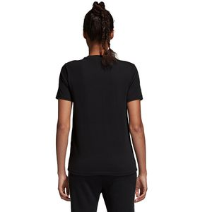 adidas Originals Trefoil Tee Damen T-Shirt black white CV9888 – Bild 3