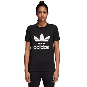 adidas Originals Trefoil Tee Damen T-Shirt black white CV9888 – Bild 2