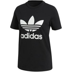 adidas Originals Trefoil Tee Damen T-Shirt black white CV9888 – Bild 1